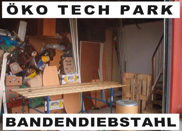 Lagerwarendiebstahl im Öko Tech Park Bielefeld Windel, durch Meyer Stork, Udo Kranzmann und Rainer Koch. 17.07.2003